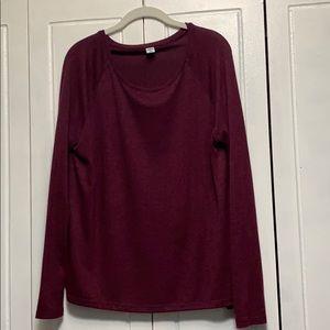 Old Navy luxe long sleeve scoop neck sweater M
